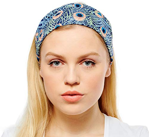 Antonia York Stirnband für Damen Haarband Kopfband Bandana Headwrap (Vienna, Viskose-Jersey) (Stirnbänder übung)