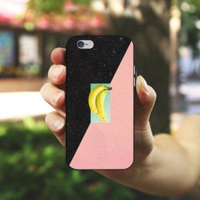 Apple iPhone X Silikon Hülle Case Schutzhülle Banane Hipster Sterne Silikon Case schwarz / weiß