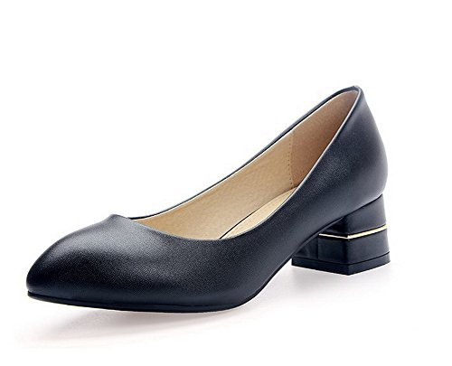 voguezone009-womens-pointed-closed-toe-pull-on-artificial-cow-leather-low-heels-pumps-shoes-black-33
