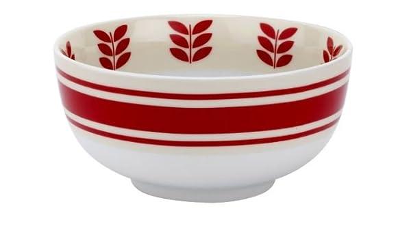 Look Scarlet Red rot Vintage Schale Müslischale Keramik Emaille