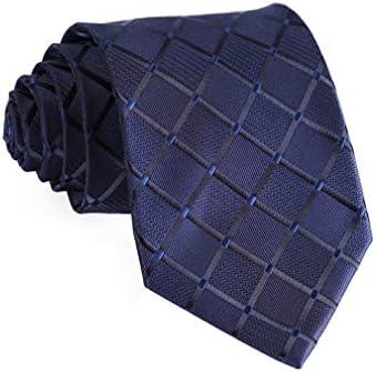 Hisdern–Corbata Pañuelo tejido Classic de hombre corbata y bolsillo cuadrado Set