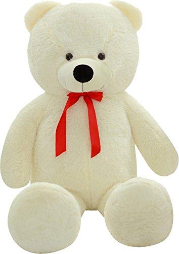 SHAIK® L-XXL Kuschel-Teddybär 100/150/180 cm (diag.) groß in Braun und Weiss - TÜV SÜD geprüft (Large, Weiss) (Test-kleinkind-t-shirt)