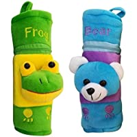 Gilli Shopee Animal Face Soft Stretchable Baby Feeder/Bottle Cover for 120ml,150ml,240ml,250mlwith Easy to Hold Strap (Frog/Bear)