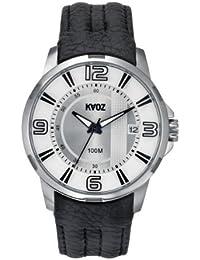 KA:OZ 50410I - Reloj para hombres, correa de cuero color negro
