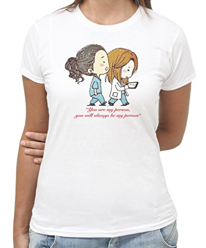 T-Shirt You are my Person Grey's Anatomy Serie TV by New Indastria - Donna-M-BIANCA