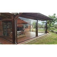 Tende In Plastica Trasparente Per Esterni.Amazon It Tende Balcone Trasparenti Giardino E Giardinaggio