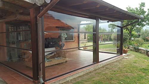 Moschitella tenda inverno pvc trasparente antipioggia antivento - copertura invernale realizzata su misura -