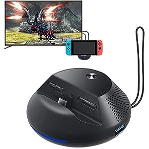 StarPlayer Kompatibel für Nintendo Switch Dock & Stand mit 3 USB Ports, 1 HDMI 1080P, Support TV-Modus und Konsolenmodus