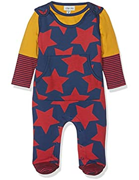 Lilly and Sid Baby-Jungen Bekleidungsset Star Print Dungaree Set