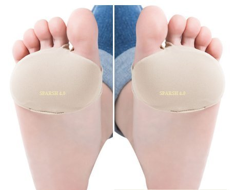 SPARSH 4.0 Superb Front-Foot Pressure-Relieving Gel Pads One Pair for Shoe Friction Injuries For Foot-Shoe Size Indian 38-46, 5-14.
