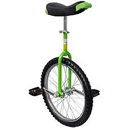 vidaXL Monocycle Ajustable Vert 20 Pouces pour Enfants Jeunes Monocycles Débutants