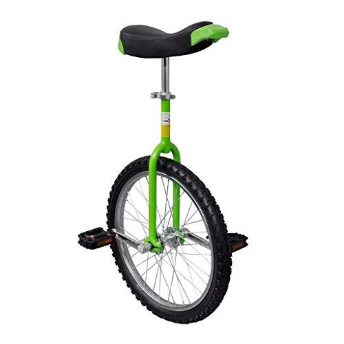 vidaXL Einrad Unicycle Fahrrad höhenverstellbar grün 20 Zoll