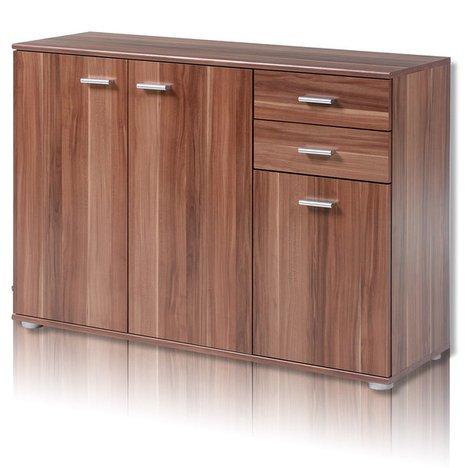 ROLLER Kommode SOLO Möbel Aufbewahrung - Moderne Nussbaum-kommode
