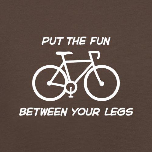 Put The Fun Between Your Legs (Cycling) - Herren T-Shirt - 13 Farben Schokobraun