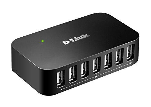 D-Link DUB-H7 7-Port USB 2.0 Hub (unterstützt Windows, Mac OS X, Linux)