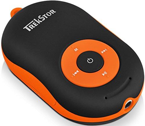 TREKSTOR i.Beat Soundboxx, multifunktioneller MP3-Player und Bluetooth-Aktivlautsprecher mit Freisprechfunktion in einem Gerät schwarz/orange