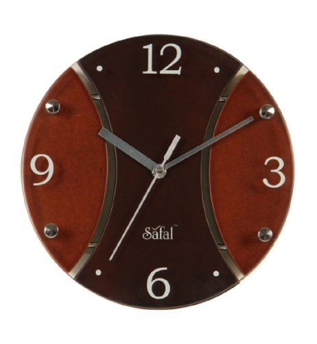 Safal Wooden Wall Clock (22.86 cm x 22.86 cm)