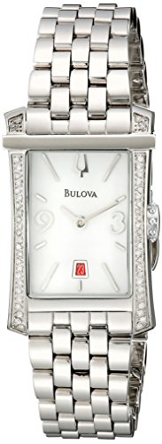 Bulova Women's 96R187 Analog Display Analog Quartz Silver Watch