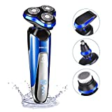 Electric Razor for Men homeasy 4D Rechargeable Battery Shaver IPX7 Waterproof Wet