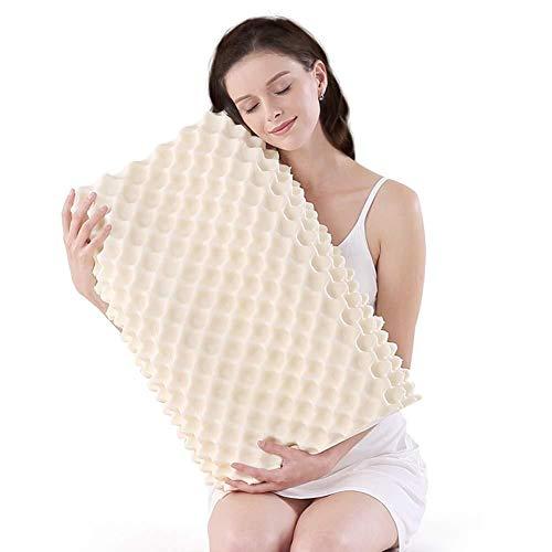 Almohada de masaje con gránulos de almohada de látex, almohada de cama de látex natural, almohada...
