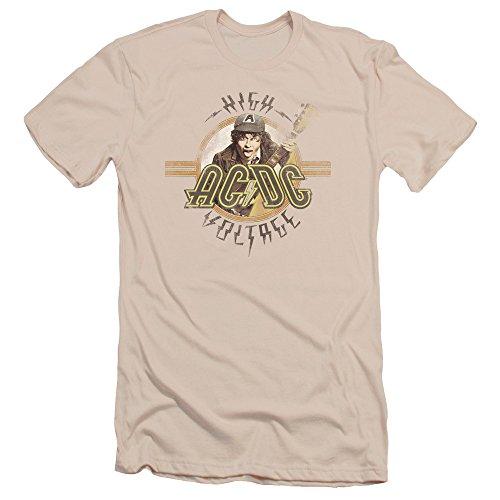 AC/DC Herren T-Shirt Cremefarben