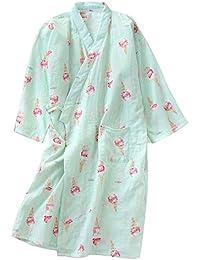 LiangZhu Bata para Mujer con Escote En V Albornoz De Kimono De Mujer Ropa De Dormir