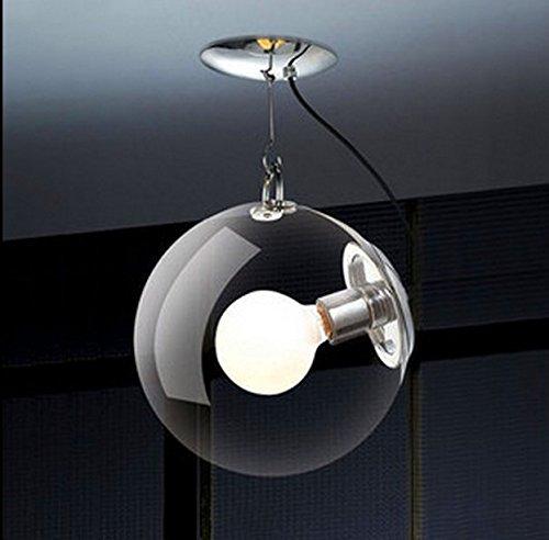 Lampadario in vetro sfera bolla rotonda lampadario chop moda semplice soggiorno corridoio balcone balcone soffitto 300MM