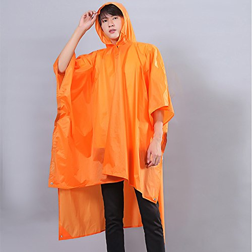 Imperméable Feifei Mode EVA Matériel Cape-Style Ms Rafraîchissant Protection de l'environnement Extérieur Portable Coupe-Vent Protection Solaire Voyage Bleu Orange (Couleur : Orange)