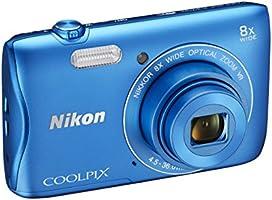 """Nikon Coolpix S3700 Compact numérique, 20 mégapixels, zoom 8X, ISO 3200, LCD 2,7 """", HD, couleur: bleu [carte Nikon: 4 ans de garantie]"""
