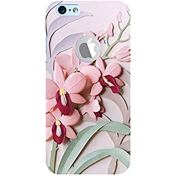FUSON Orchid Cards Design 3D Hard Polycarbonate Designer Back Case Cover for Apple iPhone 6S (Logo View Window Case)