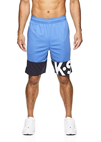 Camo Poly-mesh-trainer (K-Swiss Men's Athletic Shorts - Running Gym & Workout Short w/Elastic Waistband - Lines Federal Blue, Medium)