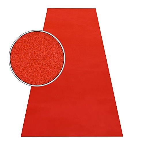 HOMEFACTO:RI Roter Teppich VIP Läufer Event Teppich Premierenteppich Wunschmaß rot 1m, Länge:1000 cm - Natürlichen Läufer Teppich