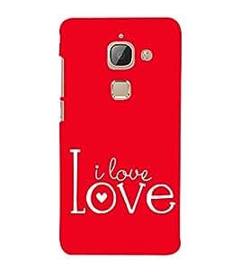 Fiobs Designer Back Case Cover for LeEco Le Max 2 :: LeTV Max 2 (Love Quote Red)
