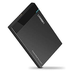 UGREEN Case Esterno per Hard Disk, USB 3.0 Enclosure Hard Disk per 2.5 '' HDD SSD SATA I / II / III fino a 6TB (7 - 9,5 mm), Cavo USB 3.0 da 50cm Rimovibile, Spugna di Protezione EVA Anti-urto, Supporta Funzione di Accelerazione UASP, Compatibile con WD, Toshiba, Seagate, Samsung, Hitachi, etc.