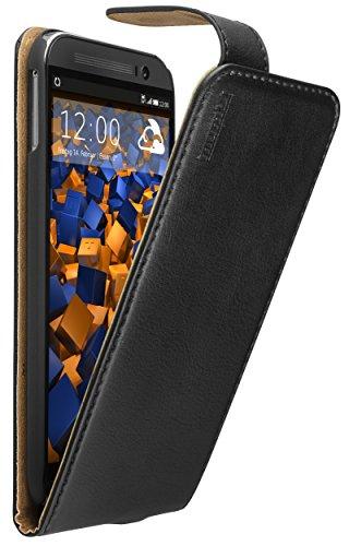 mumbi PREMIUM Leder Flip Case HTC One M8 / M8s Tasche