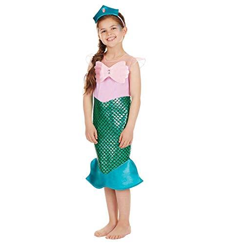 Fun Shack FNK4255L Kostüm, Girls, Meerjungfrau-Türkis, - Meerjungfrau Kostüm Kid