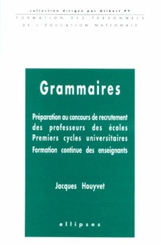 Grammaires. Préparation CAPE. 1er Cycle universitaire