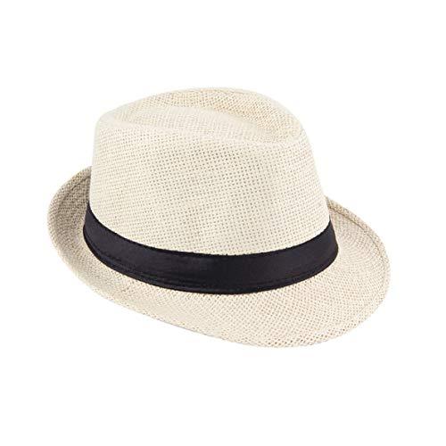 Noradtjcca Sommer neutraler Stil Unisex lässig Hanf Baumwolle Panama Hüte Caps Jazz Hut Fedora Cap Fit mit jedem Sommer Trappings