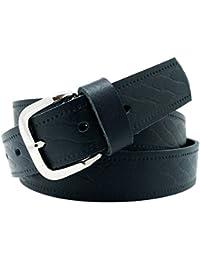 Cinturón de cuero real para mujeres y hombres - Ancho 4 cm - Negro Marrón c79cf8efae4c