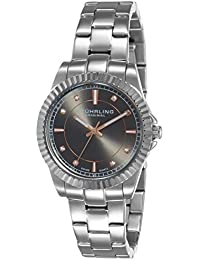 Stuhrling Original Woman Dress Symphony - Reloj de cuarzo, para mujer con corea de acero inoxidable, color gris