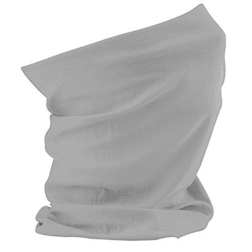 Schlauchschal aus Mikrofaser | Schlauchtuch | Halstuch | Bandana | Multifunktionstuch | Kopftuch | vielseitig und in verschiedenen Farben (Heather Grey)