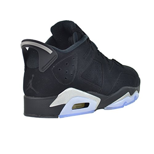 Nike Air Jordan 6 Retro Low, Scarpe da Basket Uomo, Nero black/metallic silver-white