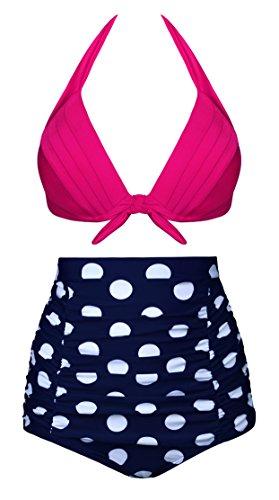 Angerella Vintage A Vita Alta Bikinis Polka Dot Costumi Da Bagno A Due Pezzi