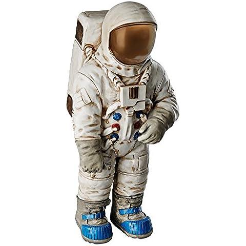 Design Toscano Moon Man astronauta Estatua, piedra, Multicolor