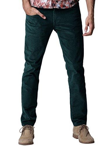 Match uomo pantaloni slim velluto a coste #8052(8052 marina militare(navy),36w x 31l)