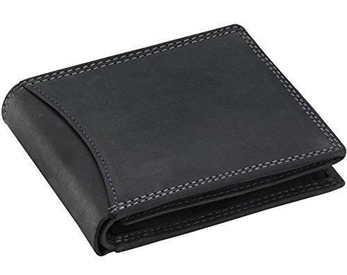 Goudsmid® Ledergeldbörse Geldbeutel Geldbörse Portemonnaie Ledergeldbeutel Brieftasche Leder Herren