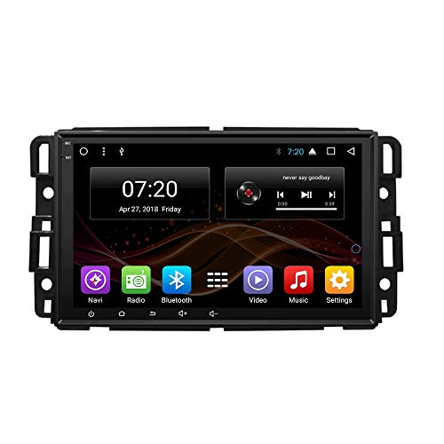 Android 7.1 Car DVD Radio GPS Navigation for Buick Enclave GMC Yukon Tahoe Acadia Chevrolet 2007-2012 Stereo Audio Navi Video with Bluetooth Calling WiFi (Android 7.1 1/16G for Enclave GMC 07-12)