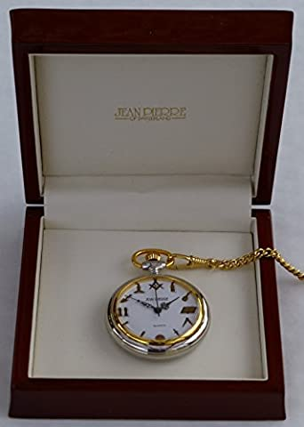 Masonic Two Tone Open Face Pocket Watch - Quartz - LR218
