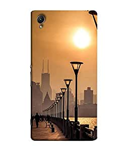 FUSON Designer Back Case Cover for Sony Xperia X :: Sony Xperia X Dual F5122 (Nature Sun Shine At Beachb Lovers Park Beautifull Beach)