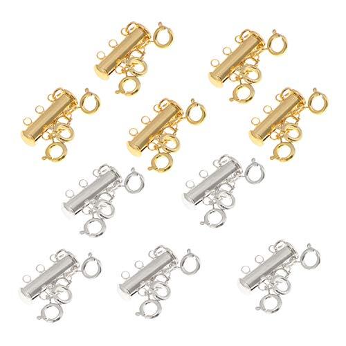 SUPVOX 10 Stück Magnetverschluss Schmuckverbinder Schmuck Karabiner Verschlüsse für Halsketten Armband DIY Schmuckherstellung (Golden und Silber) (Goldene Halskette Verschluss)